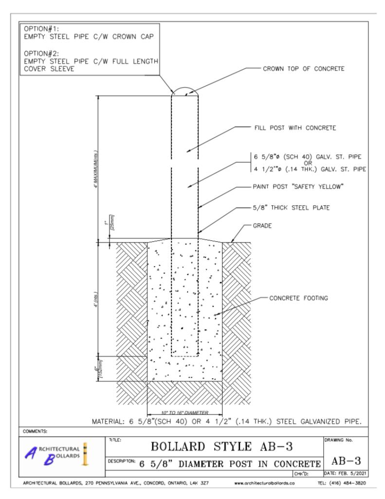 architectural bollards toronto