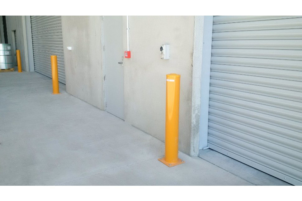 bolt down steel safety architectural bollards